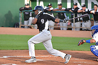 Terry McClure (24) of the Grand Junction Rockies at bat against the Ogden Raptors during Opening Night of the Pioneer League Season on June 16, 2014 at Lindquist Field in Ogden, Utah. (Stephen Smith/Four Seam Images)