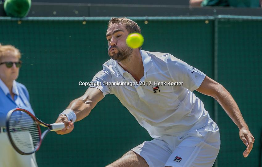 London, England, 7 th July, 2017, Tennis,  Wimbledon, Marin Cilic (CRO)<br /> Photo: Henk Koster/tennisimages.com