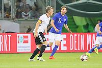 Bastian Schweinsteiger (Deutschland Germany) gegen Kasper Hämäläinen (Finnland) - Deutschland vs. Finnland, Borussia Park, Mönchengladbach