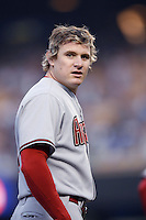 Eric Byrnes of the Arizona Diamondbacks during a game from the 2007 season at Dodger Stadium in Los Angeles, California. (Larry Goren/Four Seam Images)
