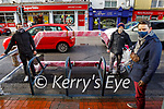Kerry Cycling campaign where successful in receiving funding for a car bike port unit which will be installed in Lower Rock Street he;ping it been delivered for on Friday. Front right: Anluan Dunne. Back l to r: Fiachra Dunne and Danny O'Riordan.