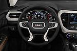 Car pictures of steering wheel view of a 2018 GMC Acadia Denali 5 Door SUV Steering Wheel