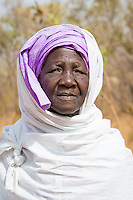Elderly Fulani woman near Fongolembi on the Fouta Djallon Massif in south eastern Senegal