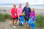 Volunteers doing a clean up in Banna on Thursday, Sharon Holland, Clodagh, Karen and Alanna O'Brien.
