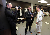 Pictured: Mark Williams, Chris Barney, Pablo Hernandez. Sunday 24 February 2013<br /> Re: Capital One Cup football final, Swansea v Bradford at the Wembley Stadium in London.