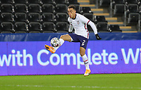 SWANSEA, WALES - NOVEMBER 12: Sergino Dest #2 of the United States traps the ball during a game between Wales and USMNT at Liberty Stadium on November 12, 2020 in Swansea, Wales.
