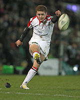 Friday 7th December 2012;  Paddy Jackson converts for Ulster during the Pool 4 round 3 Heineken Cup clash at Franklin's Gardens, Northampton, England. Image credit -: JOHN DICKSON / DICKSONDIGITAL