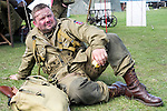 Member of the US 82nd Airborne/505th RCT living History Group Fort Paull <br /> <br />   04 May 2015<br />   Image © Paul David Drabble <br />   www.pauldaviddrabble.co.uk