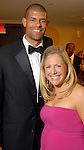 Heidi and Shane Battier at  the Houston Rockets Tux & Tennies benefit at Toyota Center Thursday March  27,2008. (Dave Rossman/For the Chronicle)