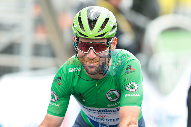 Green Jersey Mark Cavendish (GBR) Deceuninck-Quick Step crosses the finish line at the end of Stage 16 of the 2021 Tour de France, running 169km from Pas de la Case to Saint-Gaudens, Andorra. 13th July 2021.  <br /> Picture: Colin Flockton | Cyclefile<br /> <br /> All photos usage must carry mandatory copyright credit (© Cyclefile | Colin Flockton)