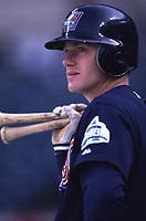 David Eckstein of the Anaheim Angels during a 2001 season MLB game at Angel Stadium in Anaheim, California. (Larry Goren/Four Seam Images)