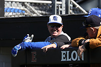 ELON, NC - MARCH 1: Head coach Mitch Hannahs of Indiana State University during a game between Indiana State and Elon at Walter C. Latham Park on March 1, 2020 in Elon, North Carolina.