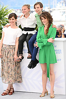 CANNES, FRANCE. July 8, 2021: Laura Verlinden, Maya Vanderbeque, Gunter Duret & Director Laura Wandel at the photocall for Un Monde at the 74th Festival de Cannes.<br /> Picture: Paul Smith / Featureflash