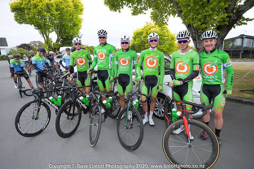 Oliver's Real Food Racing on day one of the NZ Cycle Classic UCI Oceania Tour in Wairarapa, New Zealand on Wednesday, 15 January 2020. Photo: Dave Lintott / lintottphoto.co.nz