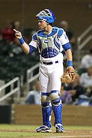 Salt River Rafters catcher Gorman Erickson #11 during an Arizona Fall League game against the Peoria Javelinas at HoHoKam Park on November 3, 2011 in Mesa, Arizona.  Salt River defeated Peoria 13-4.  (Mike Janes/Four Seam Images)