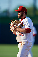 Springfield Cardinals first baseman Casey Grayson (38) during a game against the Corpus Christi Hooks on May 30, 2017 at Hammons Field in Springfield, Missouri.  Springfield defeated Corpus Christi 4-3.  (Mike Janes/Four Seam Images)