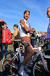 Hugo Houle (CAN) AG2R La Mondiale at sign on before the start of the 113th edition of the Paris-Roubaix 2015 cycle race held over the cobbled roads of Northern France. 12th April 2015.<br /> Photo: Eoin Clarke www.newsfile.ie