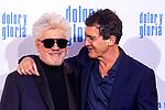 Pedro Almodovar and Antonio Banderas attend the movie premiere of 'Dolor y gloria' in Capitol Cinema, Madrid 13th March 2019. (ALTERPHOTOS/Alconada)