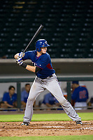 AZL Rangers catcher Sam Huff (12) at bat against the AZL Cubs on July 24, 2017 at Sloan Park in Mesa, Arizona. AZL Cubs defeated the AZL Rangers 2-1. (Zachary Lucy/Four Seam Images)