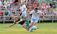 Lori Chalupny, Karen Carney #14. St. Louis Athletica defeated Chicago Red Stars 2-0 on August 5th, 2009.