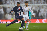 Kylian Mbappe of PSG and Eden Hazard of Real Madrid