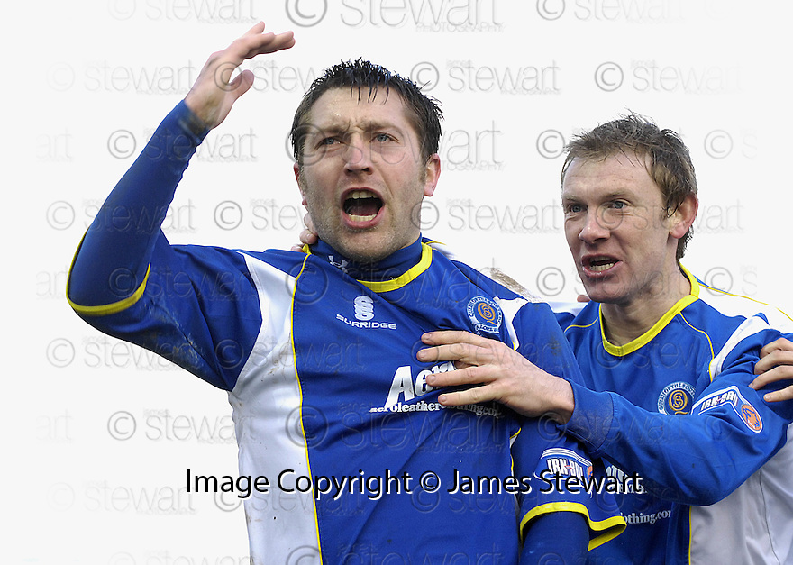 08/03/2008    Copyright Pic: James Stewart.File Name : sct_jspa13_qots_v_dundee.STEPHEN DOBBIE CELEBRATES AFTER HE SCORES THE FIRST.James Stewart Photo Agency 19 Carronlea Drive, Falkirk. FK2 8DN      Vat Reg No. 607 6932 25.Studio      : +44 (0)1324 611191 .Mobile      : +44 (0)7721 416997.E-mail  :  jim@jspa.co.uk.If you require further information then contact Jim Stewart on any of the numbers above........