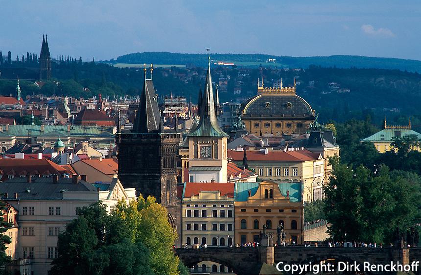 Tschechien, Prag, Blick vom Hanavsky-Pavillon