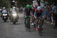 Bob Jungels (LUX/Etixx-QuickStep) charging up the cobbles <br /> <br /> 12th Eneco Tour 2016 (UCI World Tour)<br /> Stage 7: Bornem › Geraardsbergen (198km)