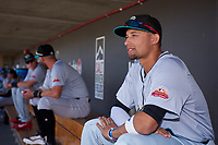 Salt River Rafters Royce Lewis (9), of the Minnesota Twins organization, before the Arizona Fall League Championship Game against the Surprise Saguaros on October 26, 2019 at Salt River Fields at Talking Stick in Scottsdale, Arizona. The Rafters defeated the Saguaros 5-1. (Zachary Lucy/Four Seam Images)