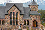 Julie and Adam's wedding at Saint Catherine of Siena Chapel at Saint Malo near Estes Park, Colorado, USA
