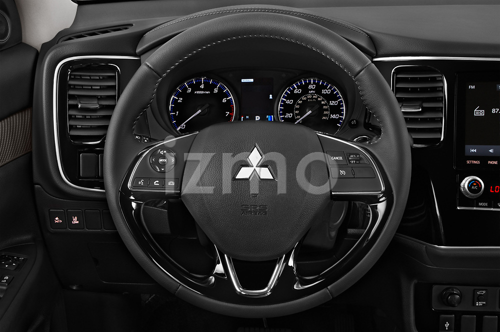 Car pictures of steering wheel view of a 2020 Mitsubishi Outlander SEL 5 Door SUV Steering Wheel
