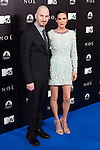 """US director Darren Aronofsky, left, and US actress Jennifer Connelly attend the Premiere of the movie """"Noah"""" in Madrid. March 17, 2014. (ALTERPHOTOS/Carlos Dafonte)"""