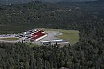 Bear Valley Elementary School is on the Anchorage, Alaska upper hillside. Aerial photograph.