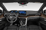 Stock photo of straight dashboard view of 2021 Peugeot 3008 GT-Pack 5 Door SUV Dashboard