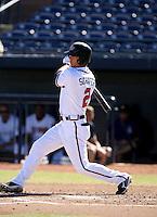 Jordan Schafer / Mississippi Braves..Photo by:  Bill Mitchell/Four Seam Images