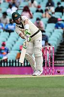7th January 2021; Sydney Cricket Ground, Sydney, New South Wales, Australia; International Test Cricket, Third Test Day One, Australia versus India; Will Pucovski of Australia batting clips to the leg side