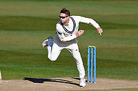 Joe Denly bowls for Kent during Kent CCC vs Lancashire CCC, LV Insurance County Championship Group 3 Cricket at The Spitfire Ground on 22nd April 2021