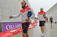 Orlando, FL - Friday Oct. 06, 2017: Tim Howard, Brad Guzan during a 2018 FIFA World Cup Qualifier between the men's national teams of the United States (USA) and Panama (PAN) at Orlando City Stadium.