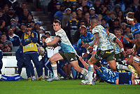 Michael Collins in action during the Super Rugby Tran-Tasman final between the Blues and Highlanders at Eden Park in Auckland, New Zealand on Saturday, 19 June 2021. Photo: Dave Lintott / lintottphoto.co.nz