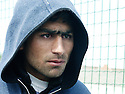 France 2003.Calais: un immigré kurde clandestin.France 2003.Calais: a Kurdish illegal immigrant.