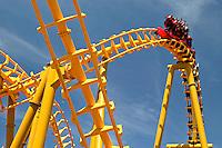 Magic Springs amusement park in Hot Springs, Arkansas rollercoaster ride..