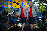 New York, NY - Friday, May 30,  2014:  USMNT on set for the Good Morning America Summer Concert Series in Central Park, New York.