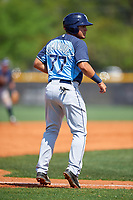 Tampa Bay Rays Wilmer Dominguez (77) during a minor league Spring Training intrasquad game on April 1, 2016 at Charlotte Sports Park in Port Charlotte, Florida.  (Mike Janes/Four Seam Images)