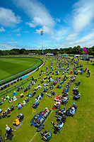Fans on the embankment during day four of the second International Test Cricket match between the New Zealand Black Caps and Pakistan at Hagley Oval in Christchurch, New Zealand on Wednesday, 6 January 2021. Photo: Dave Lintott / lintottphoto.co.nz