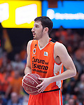 Valencia BC's  Guillem Vives  during ACB match. November 29, 2015. (ALTERPHOTOS/Javier Comos)