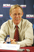 8 December 2007: Stanford Cardinal head coach John Dunning during Stanford's 28-30, 30-28, 30-26, 30-27 win against the UCLA Bruins in the NCAA DI Women's Volleyball Stanford Regional Elite Eight game at Maples Pavilion in Stanford, CA.