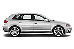 Passenger side profile view of a 2003 - 2012 Audi A3 Premium Sportback Hatchback.