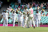 7th January 2021; Sydney Cricket Ground, Sydney, New South Wales, Australia; International Test Cricket, Third Test Day One, Australia versus India; Will Pucovski of Australia returns to bat after the third umpire rules not out
