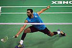 PRANNOY H.S. of India in action while playing against QIAO Bin of China during the YONEX-SUNRISE Hong Kong Open Badminton Championships 2016 at the Hong Kong Coliseum on 23 November 2016 in Hong Kong, China. Photo by Marcio Rodrigo Machado / Power Sport Images