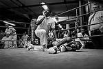 Golden Gloves competition at Gleason's Gym in Brooklyn, New York.<br />Photograph by Thierry Gourjon-Bieltvedt. 1995-2005